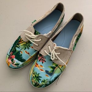 RARE SANUK TROPICAL SAILAWAY 2 LOAFERS FLATS SHOES
